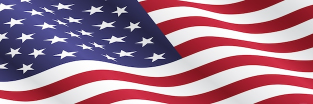 Macha amerykańską flagą. tło dla świąt narodowych usa.