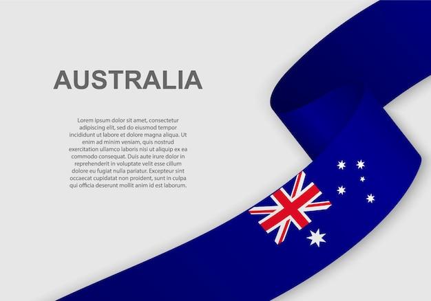 Macha flagą australii.