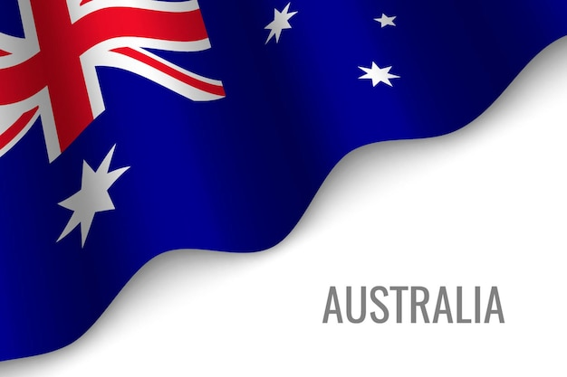 Macha flagą australii
