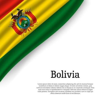 Macha flagą boliwii na białym tle