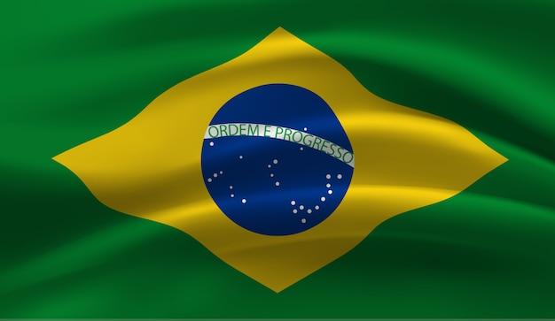 Macha flagą brazylii. macha flagą brazylii