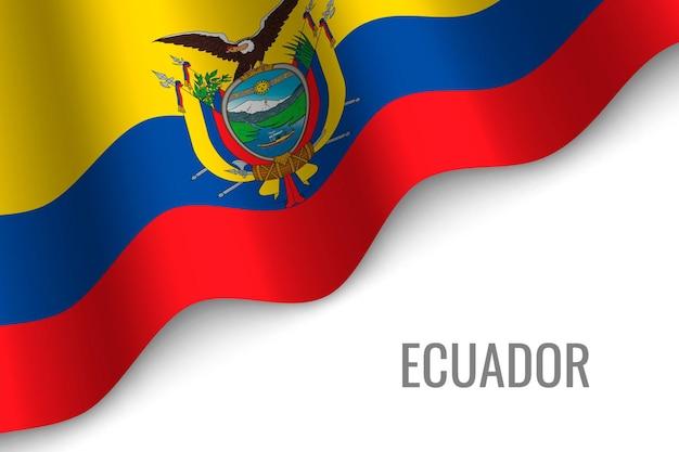 Macha flagą ekwadoru