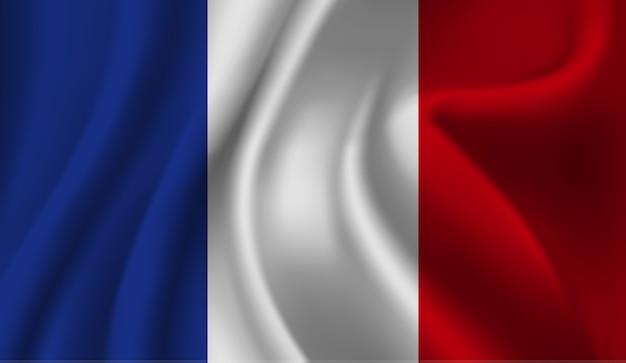 Macha flagą francji. macha streszczenie tło flaga francji