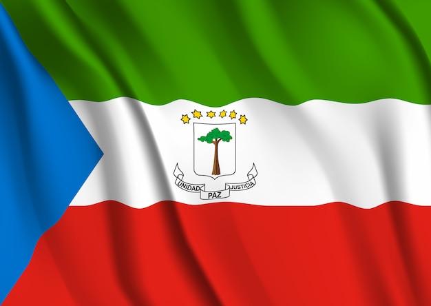 Macha flagą gwinei równikowej. macha flagą gwinei równikowej
