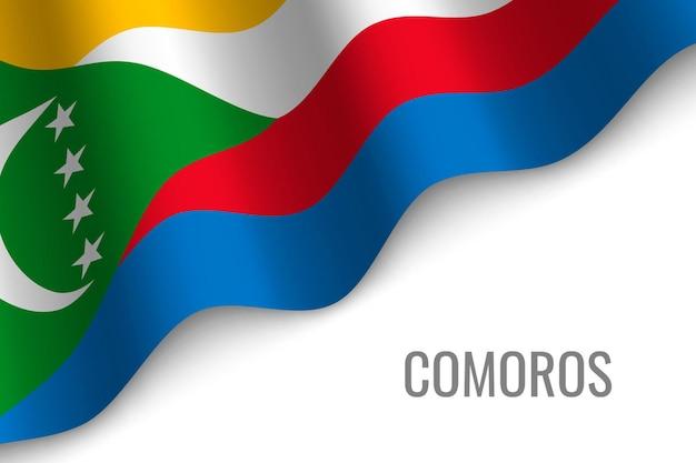Macha flagą komorów