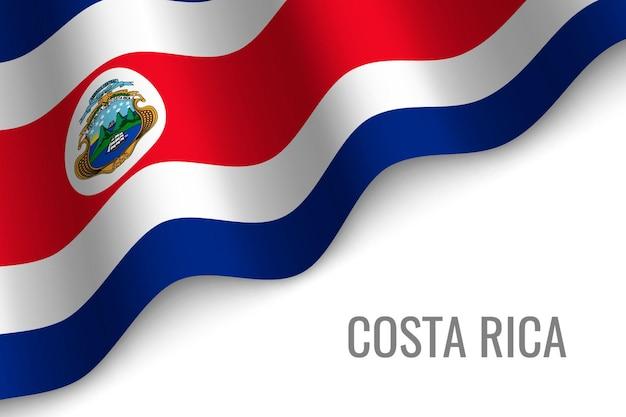 Macha flagą kostaryki.