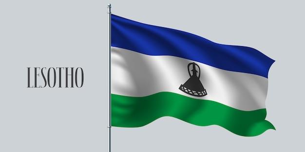 Macha flagą lesotho