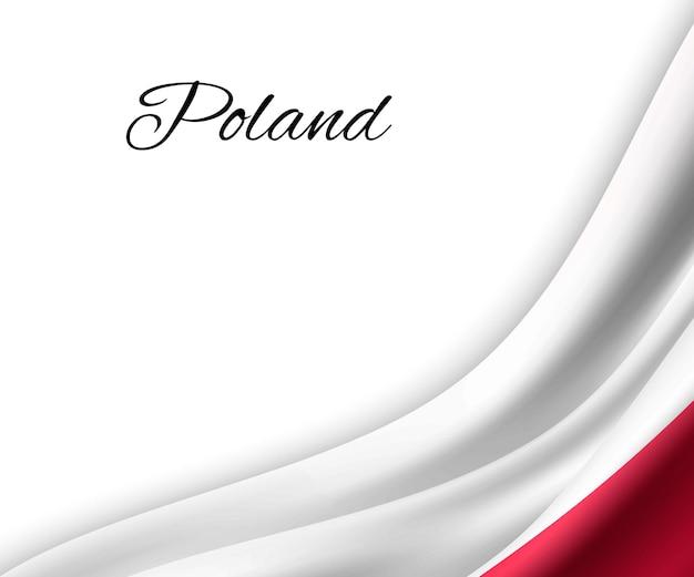 Macha flagą polski na białym tle.