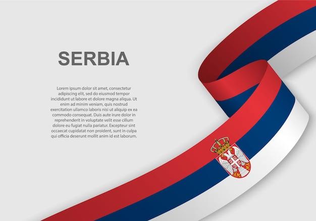 Macha flagą serbii.