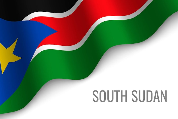Macha flagą sudanu południowego