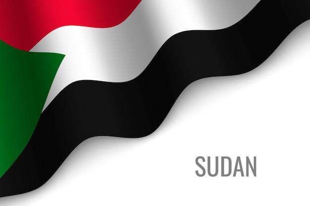 Macha flagą sudanu