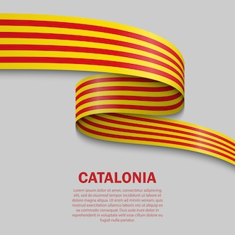 Macha flagą szablon katalonii