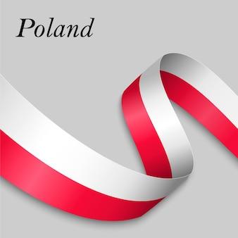 Macha wstążką lub baner z flagą