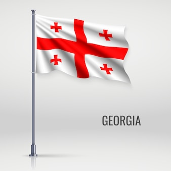Machać flagą na masztem