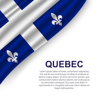 Machać flaga quebecu