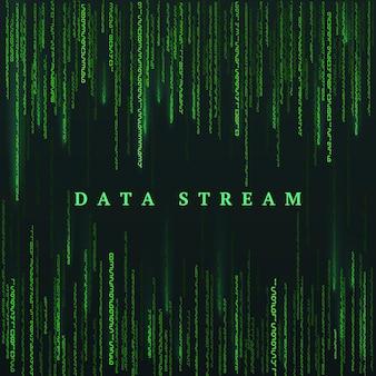 Macierz zielone liczby. sci-fi lub futurystyczny streszczenie tło. ilustracja wertora