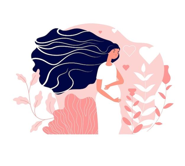 Macierzyństwo. kobieta w ciąży, szczęśliwe macierzyństwo lub młoda mama.