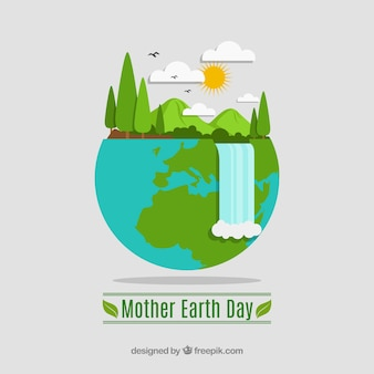 Macierzysty ziemskiego dnia tło