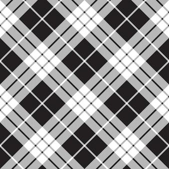 Macleod tartan czarno-biały bez szwu