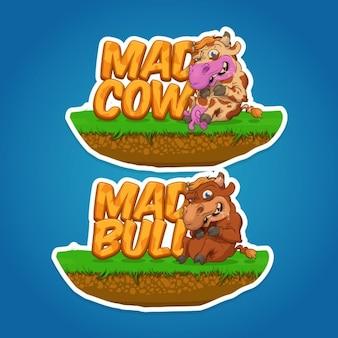 Mad cow ilustracja