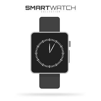 Mądrze zegarek odizolowywający na bielu