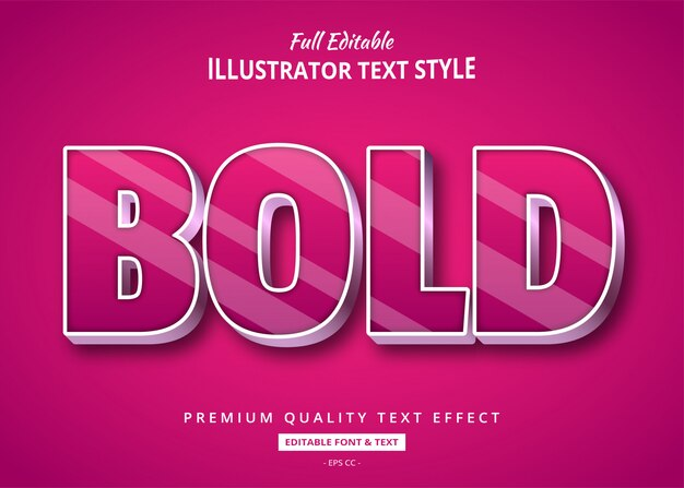Magenta bold elegancki efekt stylu tekstu 3d