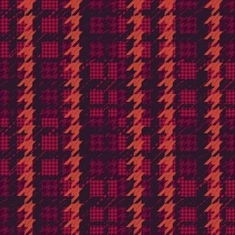Magenta houndstooth wzór