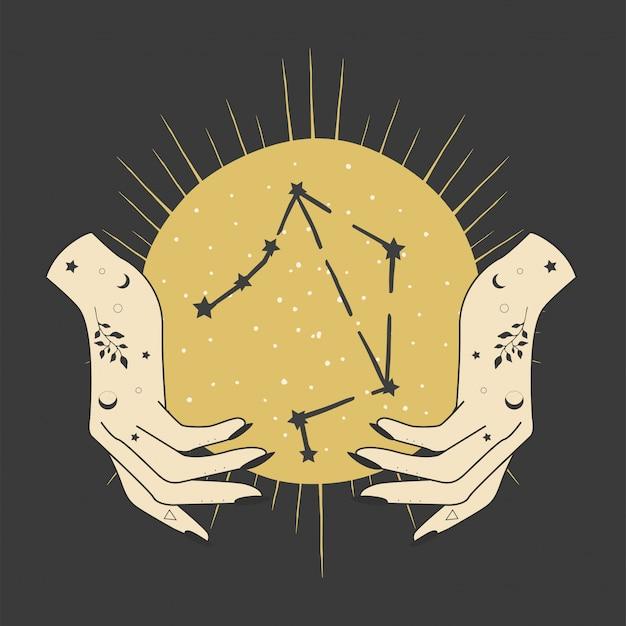 Magiczne okultystyczne wzornictwo