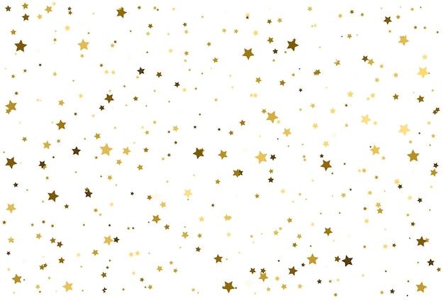 Magiczne złote gwiazdy konfetti wzór złote tło