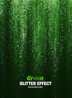 Magiczny brokat tło w kolorze zielonym.