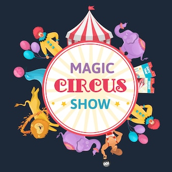Magiczny cyrk okrągły skład