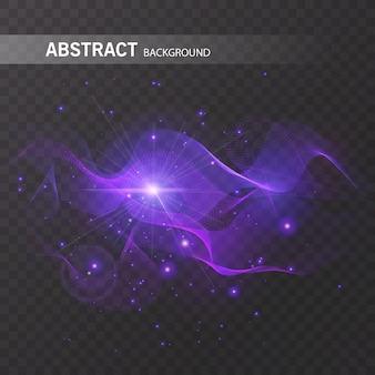 Magiczny efekt świecący na przezroczystym tle do projektowania, kolorowy efekt abstrakcyjny.