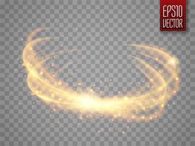 Magiczny krąg na przezroczystym tle