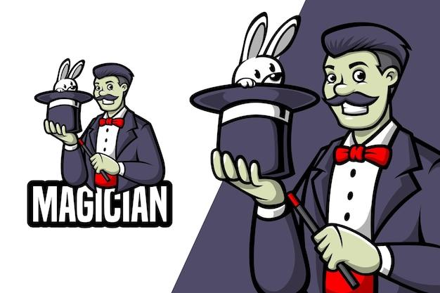 Magik - szablon logo maskotki