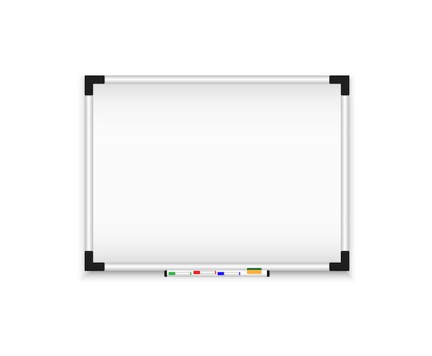 Magnetyczna tablica ścienna. realistyczny flipchart.
