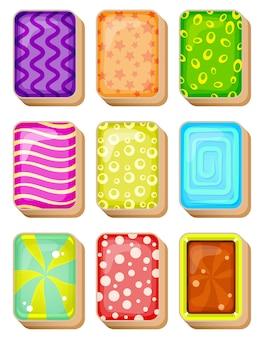Mahjong cards line w różnych kolorach do gry.
