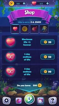 Mahjong fish world illustration mobilny ekran sklepu