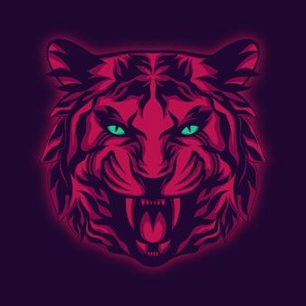 Majestatyczny tygrys ilustracja