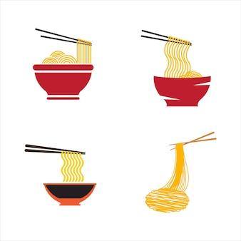 Makaron jedzenie znak symbol ilustracja szablon projektu
