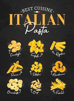 Makaron menu włoskiej kuchni