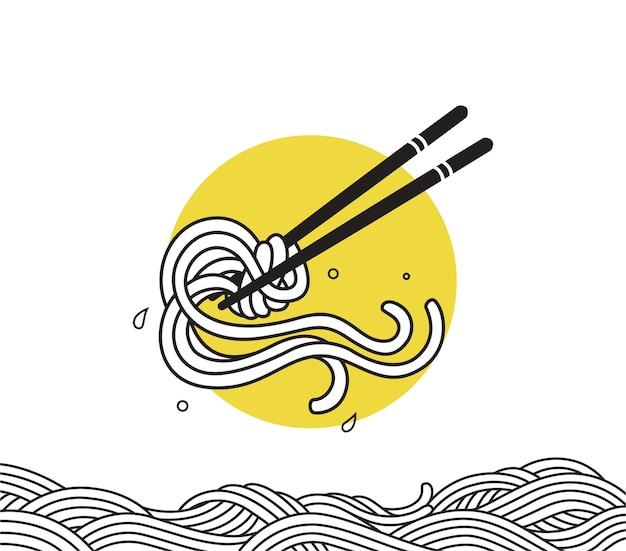 Makaron z makaronem ramen doodle