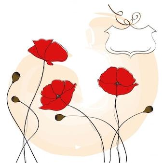 Maki tle kwiatów