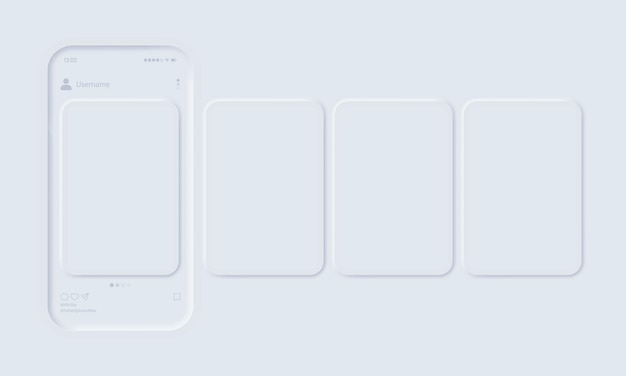 Makieta aplikacji mobilnej z otwartą siecią społecznościową zdjęć