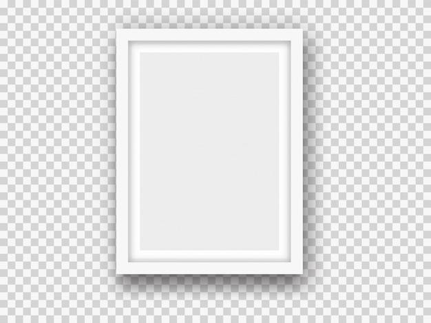 Makieta białego obrazu lub ramki do zdjęć