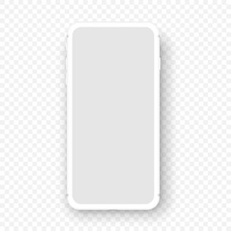 Makieta białego smartfona