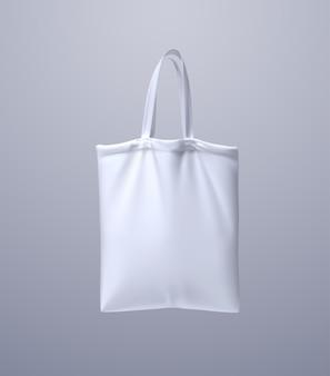 Makieta białej torby z grubej bawełny