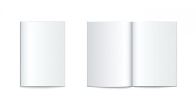 Makieta broszury z miękką okładką na białym tle