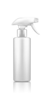 Makieta butelki reiniger z tworzywa sztucznego w sprayu na białym tle