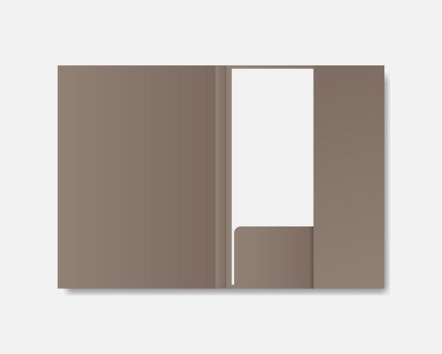 Makieta folderu pustego papieru. folder papierowy z makiety białego papieru. szablon wektor dla tożsamości firmy i marki. projekt szablonu realistyczna ilustracja.