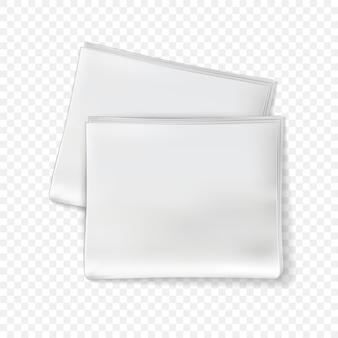 Makieta gazety. puste kartki gazet, magazyn brukowy ze złożonymi stronami. szablon dziennika codziennego prasy papierowej